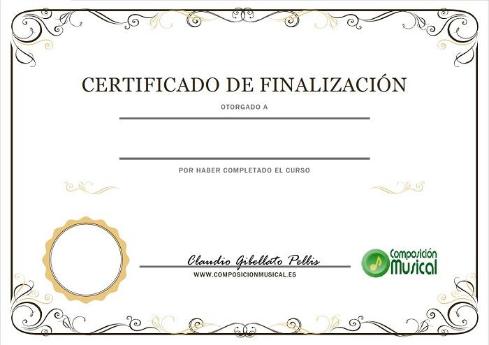 certificación de composición musical