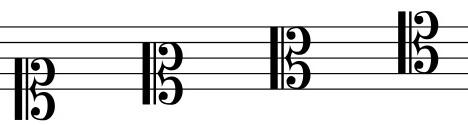 Clave de Do posiciones