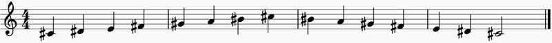 La escala de Do sostenido menor armónica