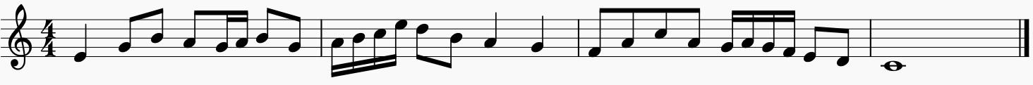 Melodía con escala diatónica