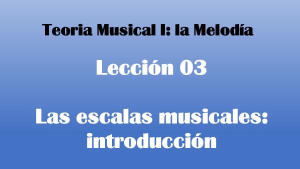 Las escalas musicales: introducción