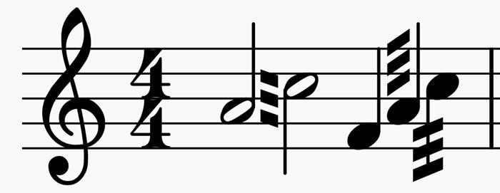 tremolo entre notas